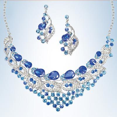 Royal Blue Bling Jewelry Set
