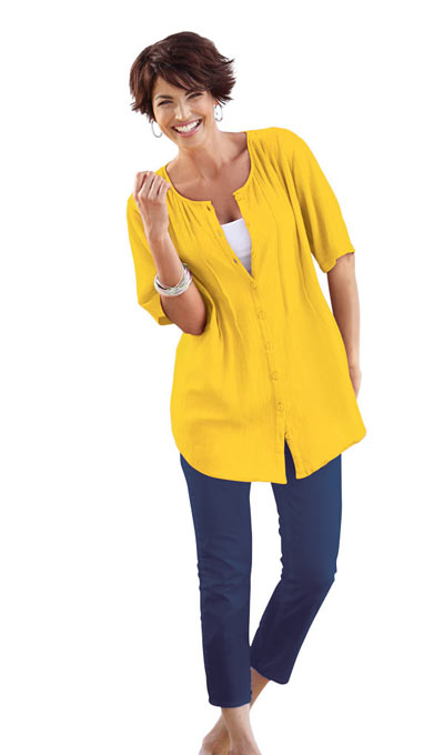 Fabulous Tunic Top - Yellow