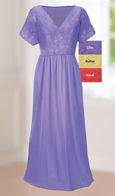 Goddess Stretch Lace Nightgown