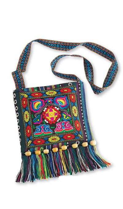 Colorful Hand Embroidered Purse