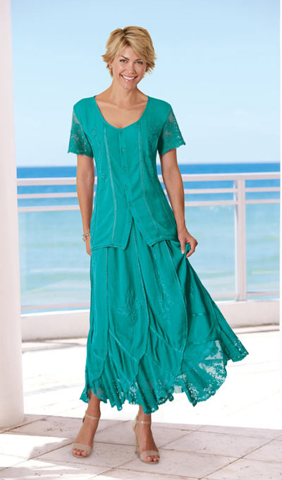 Irresistible Lace Embellished Top - Teal