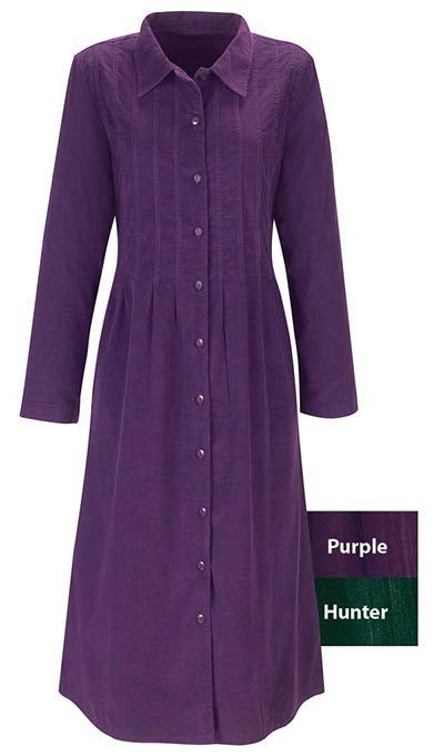 Fine-Wale Corduroy Dress