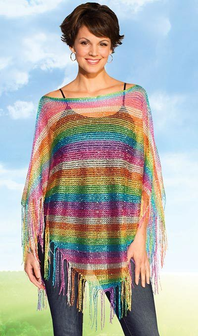 Rainbow Swing Shawl