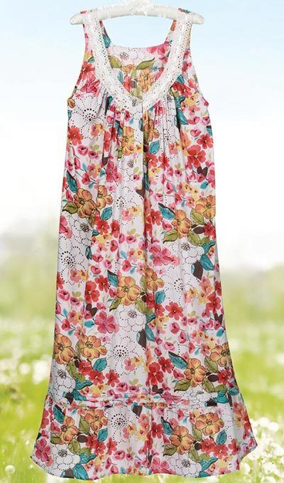Colorful Blooms Nightgown