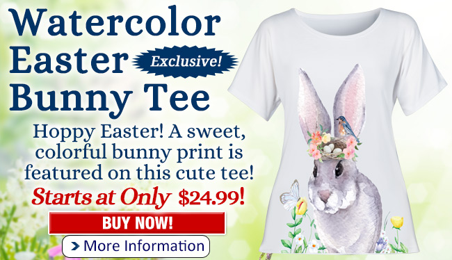 Watercolor Easter Bunny Tee